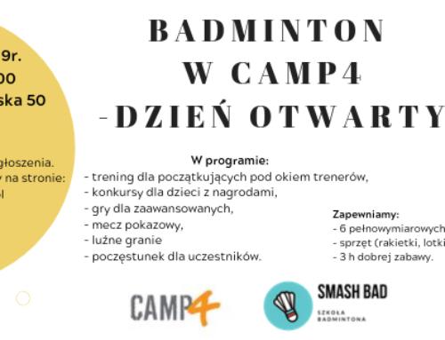 Dzień Otwarty Badminton na Camp4